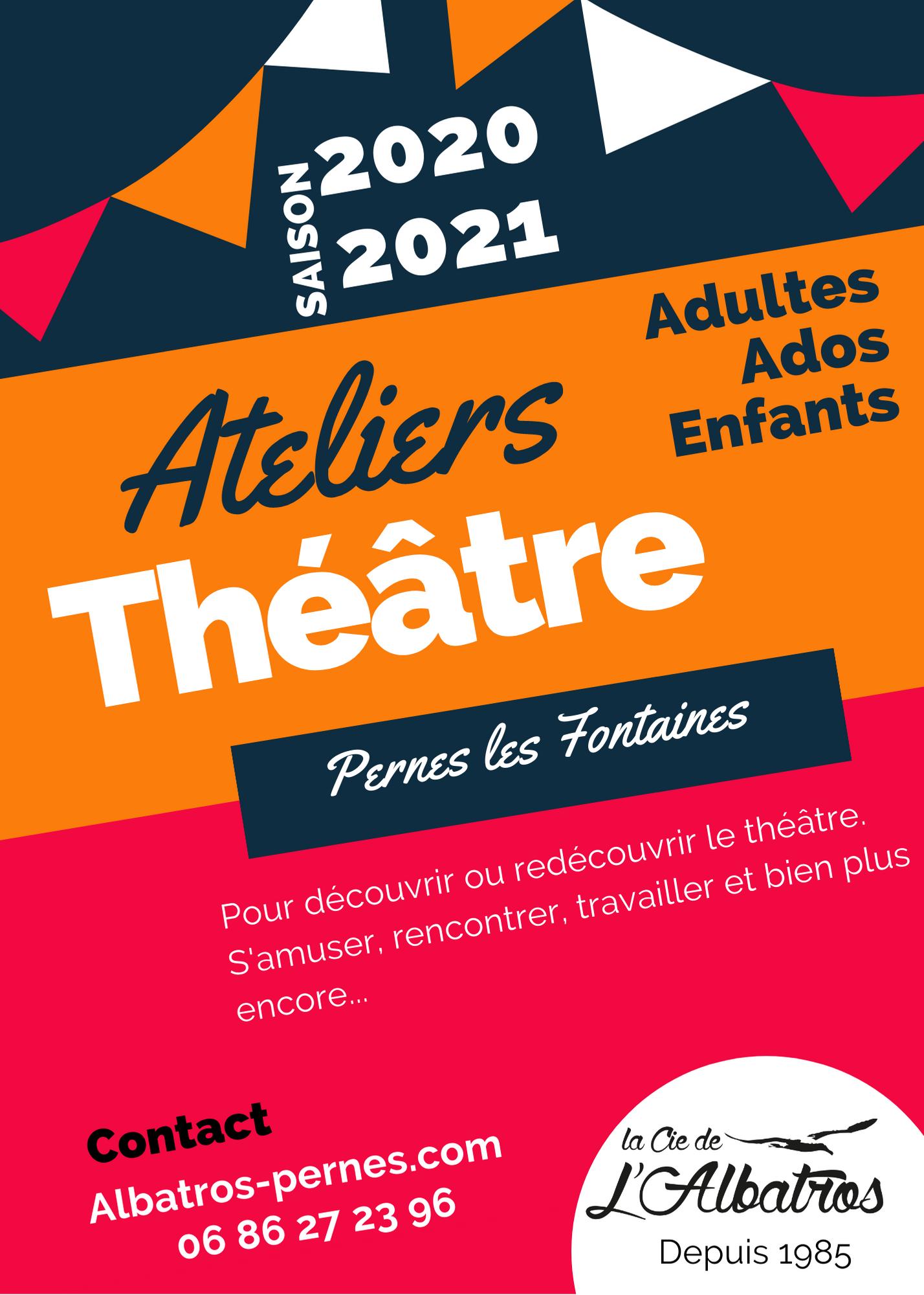 Flyer A5 ateliers théâtre 2020-2021